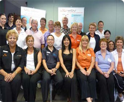 WBV training course attendees